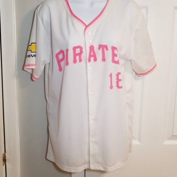 Tops Mlb Pittsburgh Pirates Womens Pink Jersey 18 Sm Poshmark
